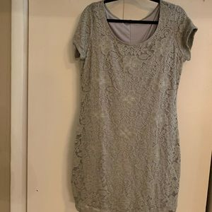Taupe/gray lace dress. NWOT. Size XL